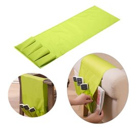 Wholesale Sofa Storage - Sofa Arm Rest Remote Control Holder Table Bag TV Remote Control Organizer 4 Pockets for Remotes Cell Phones Storage Pouch