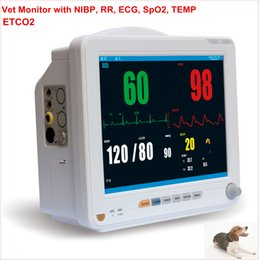 Wholesale Spo2 Monitor Prices - Cheap Price Veterinary Vet Monitor With ECG,RESP,SPO2,NIBP,TEMP,PR HR and ETCO2 Rechargeable Lithium Battery