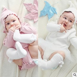Wholesale Gauze Romper - Infant romper 2017 autumn new baby girls splicing gauze romper babies long sleeve triangle jumpsuits toddler kids cotton climb clothes T5020