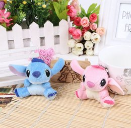 Wholesale Lovely Wholesale Free Shipping - Free Shipping Wholesale High Quality Cute Lilo and Stitch Plush Doll Toys 7cm Lovely Stitch Toys Plush Animals For Handbags car accessories