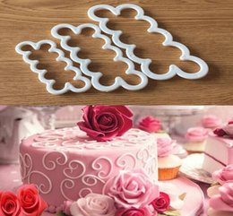 Wholesale 3d Chocolate Rose Mold - 3 pcs set Silicone 3D Rose Flower Fondant Cake Chocolate Sugarcraft Mould Mold Decor Tool