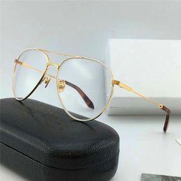 2019 óculos graus Novos designer de moda óculos ópticos clássicos pilotos quadro lentes transparentes pode ser equipado com graus de óculos de qualidade superior com caixa de 218 óculos graus barato