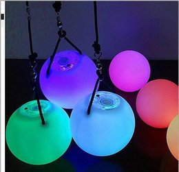Argentina Christmas Fashion LED Hand Props Women Led Poi Throw Balls para accesorios Hand Belly Dance Props Aoto Color cheap poi balls Suministro