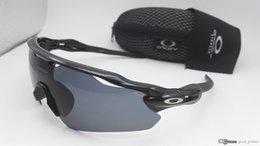 Wholesale Riding Goggles - New Radar EV Pitch Sunglasses OK Men Women OKLY Path Brand Design Riding Sports Sun Glasses UV400 Travelling Eyewear Racing with Cases