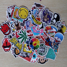 Wholesale Decal Words - 150pc Cartoon Car Sticker Decal Laptop Skateboard Stickers Bomb Doodle Graffiti