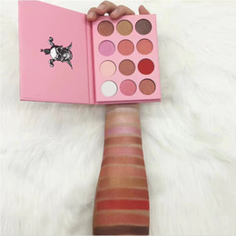 Wholesale Dark Shadows Makeup - Dropshipping Newest Makeup FBK DARK Fredom Eyeshadow Pressed Powder 12color Eye Shadow Matte & Shimmer Palette High quality