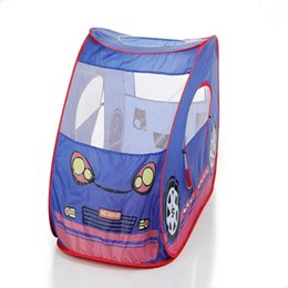 Wholesale Pops Store - Kids Pop-up Car Play Tent - Easy Pop-up and Twist-fold to Store Compactly and Neat - 1-2 Children Fit Inside