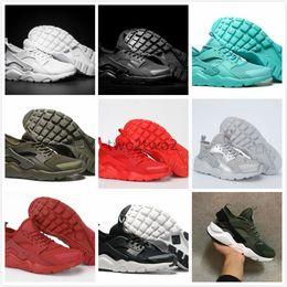 Wholesale Men Multicolor Shoes - 2017 New Huarache Running Shoes Huaraches Rainbow Ultra Breathe Shoes Men & Women Huaraches Multicolor Sneakers Air Size 36-46 Free Shippin
