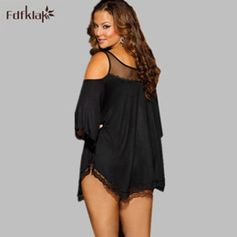 Wholesale Women Sleepwear Dress For Summer - Wholesale- 3XL 4XL Summer Sexy Europe Plus Size Nightgowns Women Night Dress Nightwear Nighties Nightwear For Women Satin Sleepwear E0293