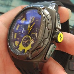 Wholesale Eyes Pins - Italy top brand watch F1 Sports car watches calendar three eyes men sports Men's Watches Relogio fashion Casual Watch