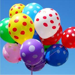 Wholesale Dot Latex Balloons - 100pcs Latex Polka Dot Balloons Round Balloon Party Wedding Happy Birthday Anniversary Decor 12 inch new