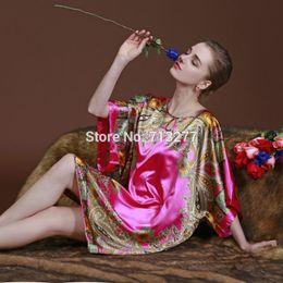 Wholesale Skirt Nighty Dress - New Fashion Sexy Women Imitated Silk Sleepwear Robes Dress Night Skirt Nighty Nightgowns Female Night Gown Sleepwear Pyjamas