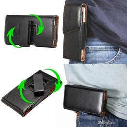 Wholesale Leather Cellphone Holsters Iphone - 360 Rotating Universal Hip Horizontal Vertical Leather Belt Clip Holster Case For iPhone 5 SE 6 6S Plus For Galaxy S6 S7 Edge For CellPhone