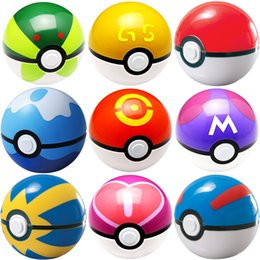 Wholesale Minecraft Free Shipping - DHL free shipping ABS Action Anime Figures 7cm pikachu figure PokeBall Fairy Ball Super Ball poke Ball Kids Toys Gift