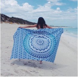 ko Rabatt Strandtuch Yoga-Matte Decke indischen Mandala Square Chiffon Schal Strand werfen Tapisserie Hippy Boho Gypsy Baumwolltischdecke