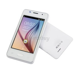 Wholesale Dual Gsm Cards Bluetooth - H-Moblie V1 Smartphone 4 inch Android 4.4 SC6820 800*480 Touch screen Dual SIM cameras wifi GSM Unlocked Mobile Cell phone Free shipping