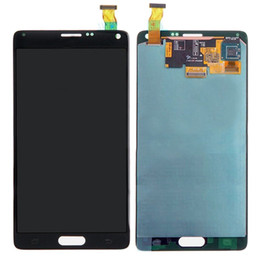 Wholesale Galaxy Note Screen Assembly - SBI LCD display Digitizer touch screen Assembly For Samsung Galaxy Note 4 SM-N910 B Grade Low Qaulity