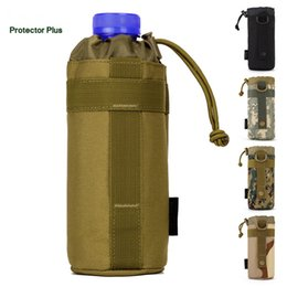 Wholesale Molle Bottle - Unisex Camouflage Nylon Kettle 550ML Water Bottle Pack Waist MOLLE System Vice Bag Travelling Camping Equipment