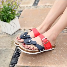 Wholesale Slipper Thongs - Feminine Cheap Cartoon Animal Prints Plus size 44 43 Slipper Ladies Casual Summer beach shoes Flip flops Slip-on Sandals Thongs