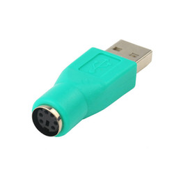 Wholesale Ps2 Usb Mouse Adapter - New USB Male To for PS2 Female Adapter Converter for Computer PC Keyboard Mouse Wholesale