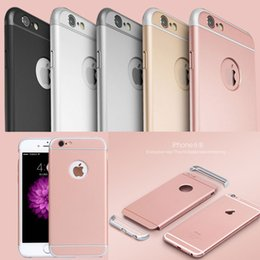 Wholesale Iphone Three Piece - Ultra Thin PC Electroplate Three Pieces Detachable Snap-On Case Polished Hard Shell Full Protective Cell Phone Case for Iphone6 6plus