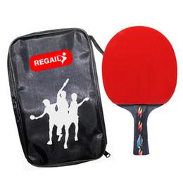 Argentina Raquetas de tenis de mesa de alta calidad Espinillas en el bate de goma, paleta de ping pong, 1 cuchilla de la raqueta + 1 bola + 1 bolsa de la raqueta supplier table tennis bat pimples Suministro