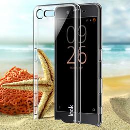 Wholesale Transparent Mini Phone - 10pcs Lot ,100% original IMAK Phone Cases Clear crystal case For Sony Xperia X Compact Hard plastic Case For Sony Xperia X mini