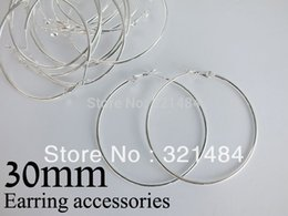 Wholesale Hoop Earring Supplies Wholesale - Bulk 500pc lot silver plated 30mm french circle hooks earring backs hoop earring findings for jewelry making supplies