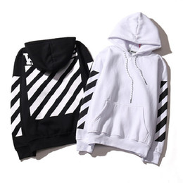 Wholesale Exo Pullover - Hot Real Off White Hoodie With the Off-white Tags Exo GD Religious Fleece Hoodie Sweatshirts Cotton Hoodies Black White Colors