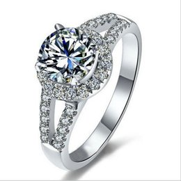 Wholesale white wedding ring cushion - wholesale Fashion Lady 10KT white gold filled Ellipse Cushion-cut Gemstone Zircon Pave Set Rings Wedding Brand Jewelry for Women