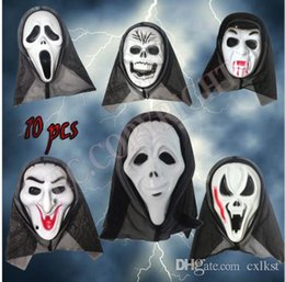 Wholesale Crazy Carnival - Face Mask Crazy Scared Ghost Scream For Costume Party Dress Halloween Carnival Brand New Free Shipping