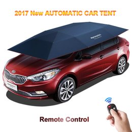 Wholesale Free Shelter - Wholesale- 2017 New Automatic Car Tent With Remote Control Anti-UV WindWindproof Sun Shelter Umbrella Awning Tent For Car DHL Free Shipping