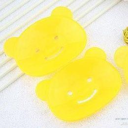 fumetto di sapone Sconti 500pcs scatola del sapone del coniglio sveglio del fumetto per il piatto di plastica del sapone del bagno di ventosa cucina del bagno del bagno della decorazione del contenitore di sapone dei bambini