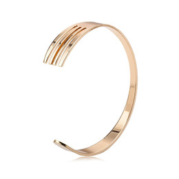 Wholesale Western Style Bracelets - Western-style food Fork Alloy Bangles Women and Men Open Bracelets Gold Silver Black Bangle Bracelet Jewelry