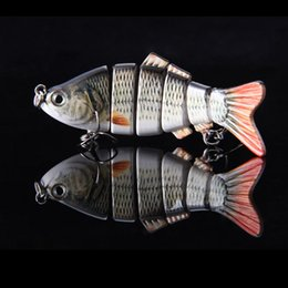 Wholesale Segment Swimbait - Hot Sale! 10cm 20g Lifelike 6 Segments Swimbait Fishing Lure Crankbait Hard Bait Fish Treble Hook Fishing Tackle