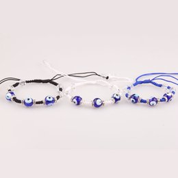 Wholesale Turkey Evil Eye Bead - Wholesale Turkey evil eyes hand-woven bracelet crystal bead bracelet fashion jewelry for men and women free shipping
