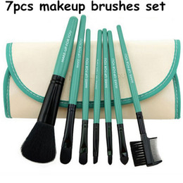 Wholesale Wooden Make Up - 7PCS Makeup Brushes Set Tools Make-up Toiletry Kit Cosmetic Foundation Brush Beauty Make Up Soft Brush with Wooden Handle
