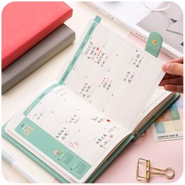 Wholesale Weekly Planners - Wholesale- 2017 Schedule Planner Weekly Monthly Yearly Planner Organizer Notebook Kawaii Agenda 2017 Stationery Daily Memos Notepad WZ
