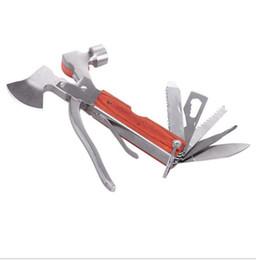 strippers rj45 Rebajas Al aire libre que acampa el cortador de emergencia herramienta auto auto emergencia martillo de seguridad 16 in1 herramientas de rescate de seguridad mini destornilladores alicates sierras de cuchilla de hacha
