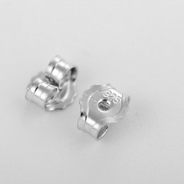 Wholesale Sterling Silver Ear Plugs - 925 Sterling Silver Platinum Plating Silver Ear Plug Earplugs Prevent Allergy High Quality Earrings Accessories DIY Earrings Parts