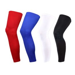 Wholesale Thigh Calf Compression - Wholesale-Sport Leg Sleeve Support Brace Knee Pads Kneepad Basketball Sport Compression Calf Stretch Brace Thigh Skin Protector Sport Safe