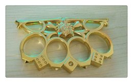 Wholesale Self Security - Gold and black Hell detective Constantine Steel Brass knuckle dusters,Self Defense Personal Security Women's and Men's self-defense Pendant