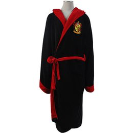 Wholesale Animal Baths - Wholesale-Harry Potter Gryffindor Fleece Hooded Bath Robe Manttle Kimono Cloak Bathrobe