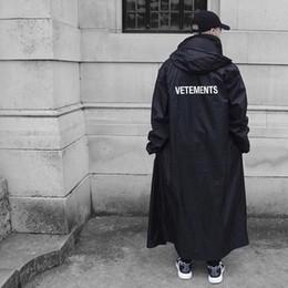 17FW Vetements черный плащи ПВХ логотип печатных ветровка плащ пара мода верхняя одежда плащ Hfytjk007 от