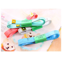 Wholesale Tailoring Sewing Tape Measure - cheapest Body Measuring Ruler Sewing Tailor Tape Measure Soft Flat 60Inch 1.5M Multi colors free shhipping (7)