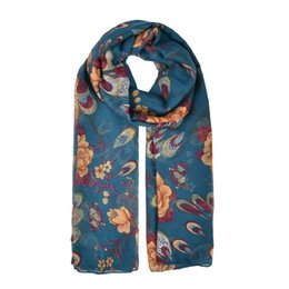 Wholesale Feather Scarves - fashion women scarf simple light rendering winter warm scarves close to skin Large flower feathers SF883