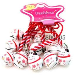 Wholesale Maneki Neko Charms - 100 pcs pink red Maneki Neko Lucky Cat Pendant Cell Phone Charm Straps