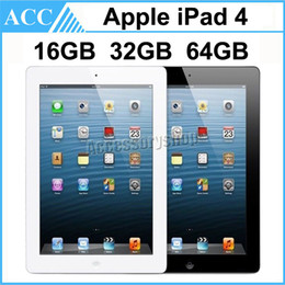 Wholesale Refurbished Ipad 16gb - Refurbished Original Apple iPad 4 4th Generation 16GB 32GB 64GB WIFI 9.7 inch Retina Display IOS A6X Warranty Included Black And White DHL