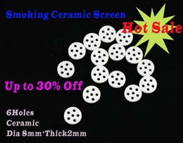 Wholesale Making Filter - Ceramic Screen Smoking Filter Screen For Glass Bowl Smoking Hand Pipe Made of Ceramic dia8*thick2mm 6holes