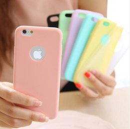 Wholesale Pure Black Case Iphone - 2016 New candy colorful pure soft TPU mobile phone protective cellphone case for iPhone